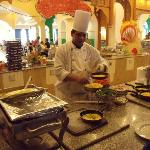 The omelette chef in the Coral restaurant