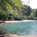 the almost private beach