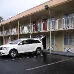 Motel mit Außenzugängen