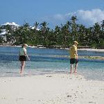 Walking Tahiti Beach at Low Tide