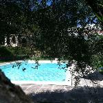 di fianco alla piscina