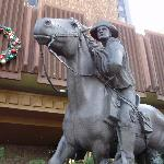 Famous Bronze Pony Express Statue