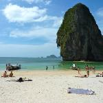 Middle of Phra Nang beach