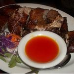 crispy duck with pineapple sauce