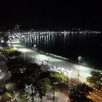 Copacabana at night from room balcony