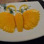 Un dessert à la mangue