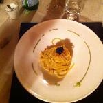 spaghetto trafilato oro granchio imperiale caviale iraniano