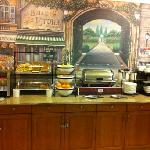 eggs, sausage, and lots more, not your average continental breakfast!