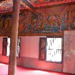 Stunning paintings on the walls of the temple