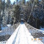 Un pont suspendu...