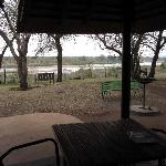 View from hut by the river