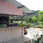 The little roadside shop...bought fresh bananas and tomatoes