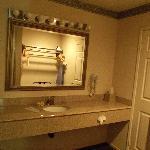 Additional sink outside bathroom