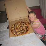 That really is a LARGE pizza!