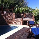 small pool and braai area