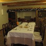 """la sala """"colazione"""" allestita per capodanno 2010"""