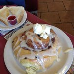 """side"" cinnamon roll- huge!"