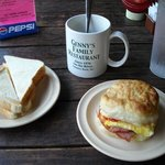 My home-made breakfast at Genny's Restaurant in Chimney Rock, North Carolina