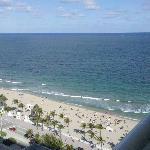 Balcony view of the Atlantic ocean