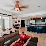Full size living, dining, & kitchen areas in all units