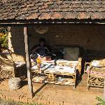 The veranda to enjoy the sun .