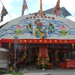 Religious celebration at a temple at Tiong Bahru