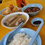 Our bak kut teh breakfast, a stone's throw away from the hotel.