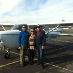 Us with Les in front of the plane!