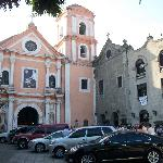 San Augustin Church across the street from the rear hotel entrance (wedding about to start)