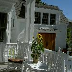 The carriage house from the porch at our boutique Provincetown hotel