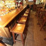 Looking down the bar