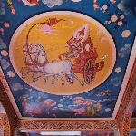 Wat Langka's painted ceiling