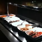 buffet breakfast in the restaurant