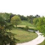 La vue sur le trou n°7 du golf