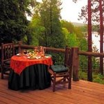 Lookout's private deck overlooking the lake