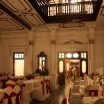 the dining hall for wedding receptions
