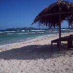 Strand direkt beim Hotel