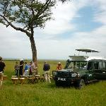 lunch in masai mara safari park