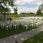 Our grounds make a lovely venu for an outdoor country wedding.