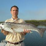 A nice redfish with Capt Ron