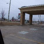 Front enterance - lot sof gas and fast food all around