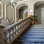 Escalier en pierre, grès et pierre des charentes.