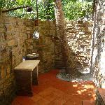 Cool bathroom outside