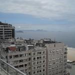 Blick von Dachterrasse Richtung Strand