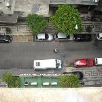 Blick auf die Strasse aus 10.Stock