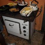 Alter Ofen, hübsch angerichtet
