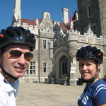 Getting a closer look at Toronto's only castle during a midtown Toronto bicycle tour