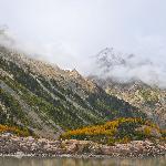 landscape around the glacier