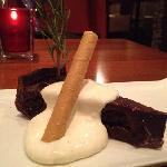 cherry and dark chocolate tart