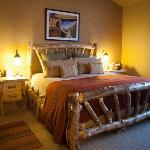 comfortable king size bed in the Chimayo Suite